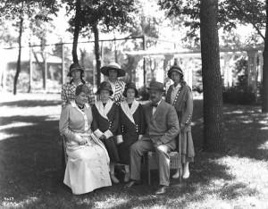 D N Tallman Family 1915