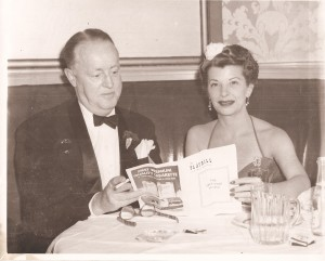 Jack & Martha (Pace) Tallman Dec 1952 at Le Cog Rouge